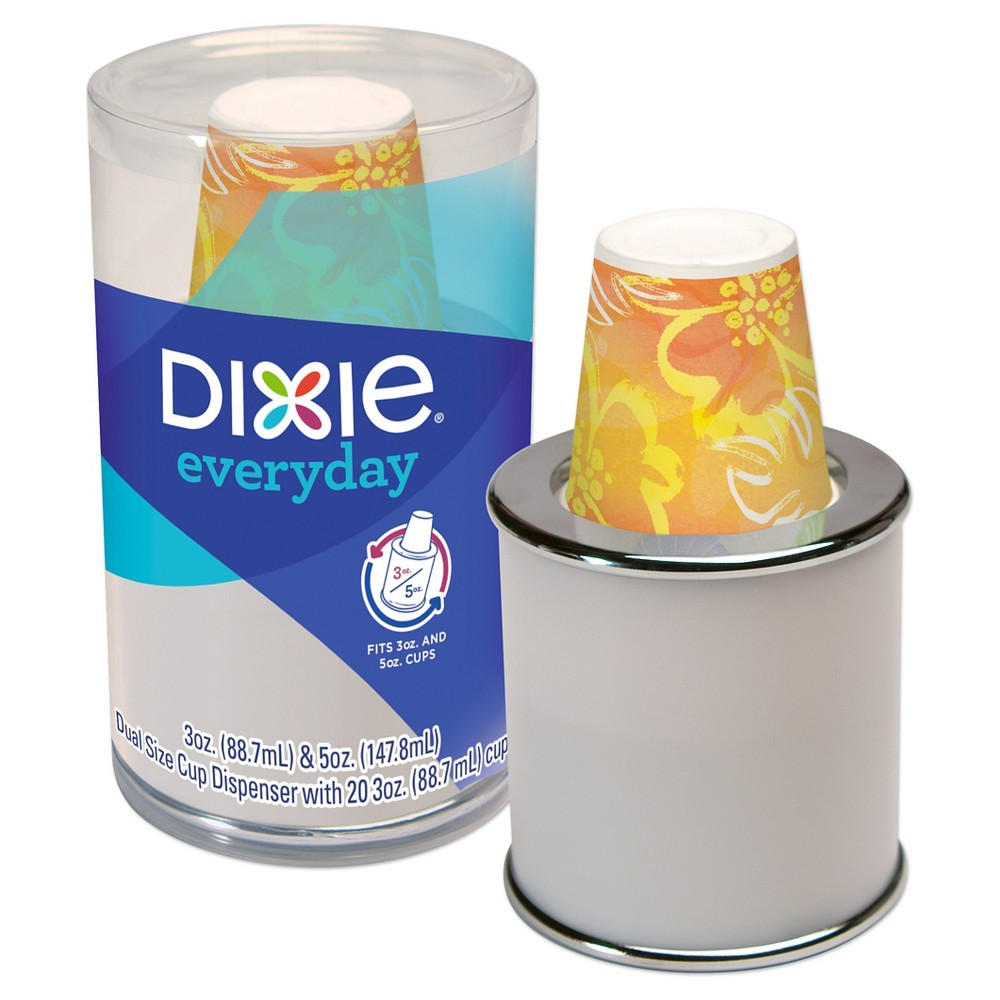 Dixie Everyday Combo Cup Dispenser With Cups 3oz 20ct Colors