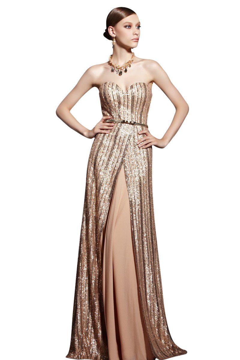 Sequin long length evening dress sarah dresses pinterest sequins