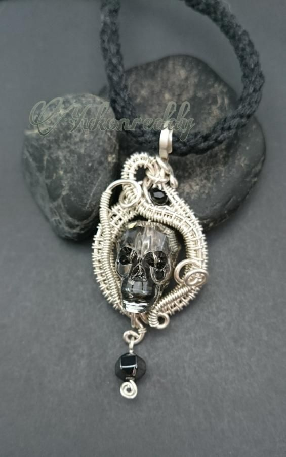 Crystal skull necklace jewelry creation by becca ross beading crystal skull necklace jewelry creation by becca ross mozeypictures Images