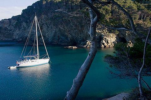 Sa Tuna Cove in Begur, Costa Brava, Catalonia.