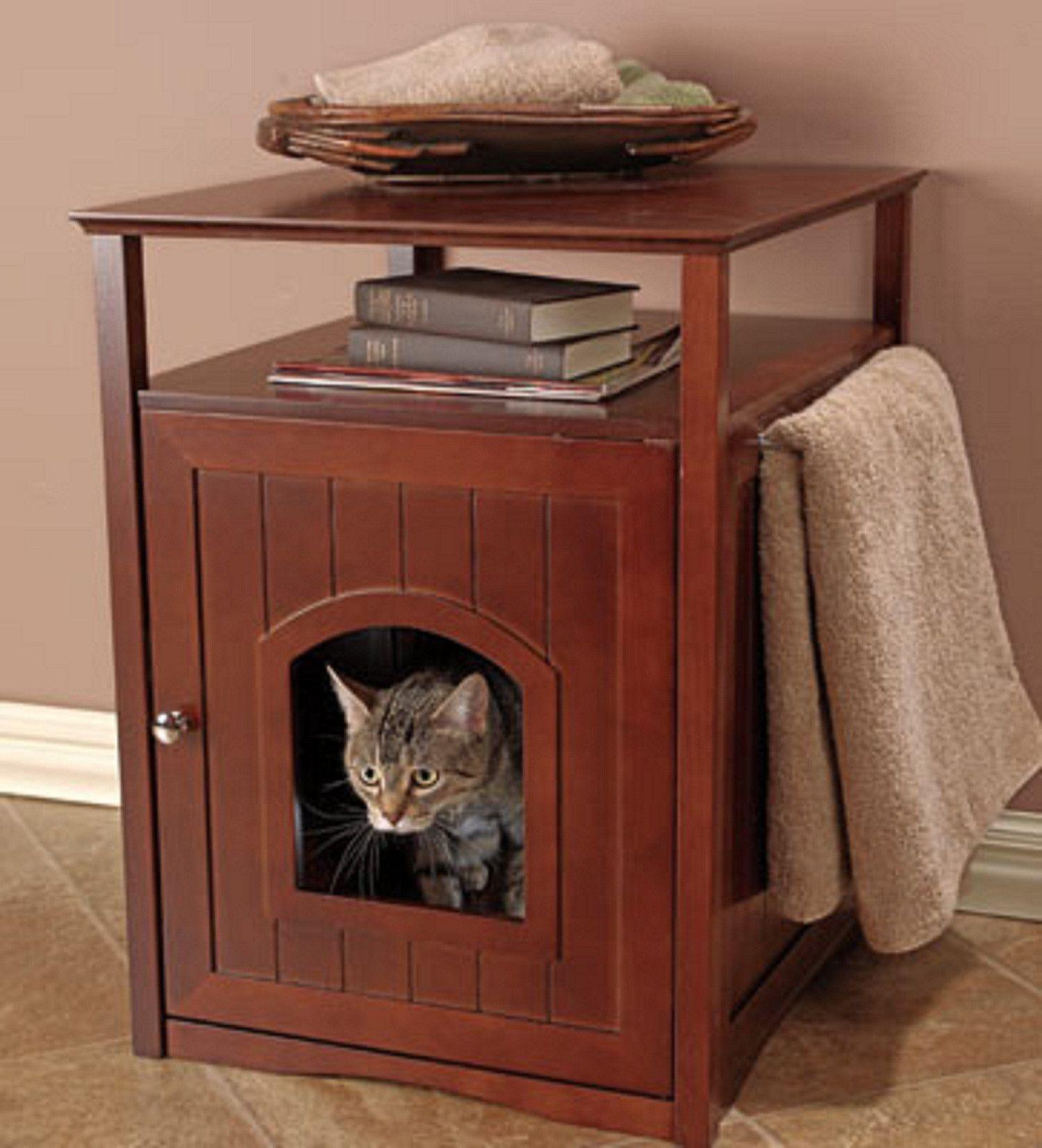 Genial Elegant Hidden Cat Litter Box End Table Http://www.catsonyards.com