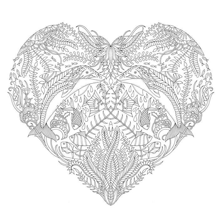 1001 Coole Mandalas Zum Ausdrucken Und Ausmalen Heart Coloring Pages Johanna Basford Coloring Book Johanna Basford Coloring