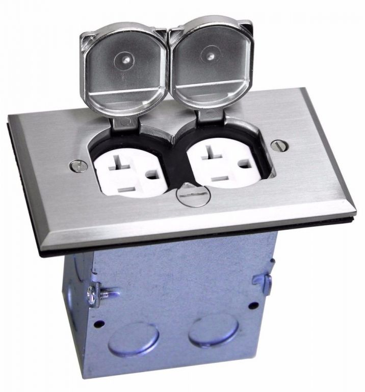 Modern Floor Outlet Cover Plate