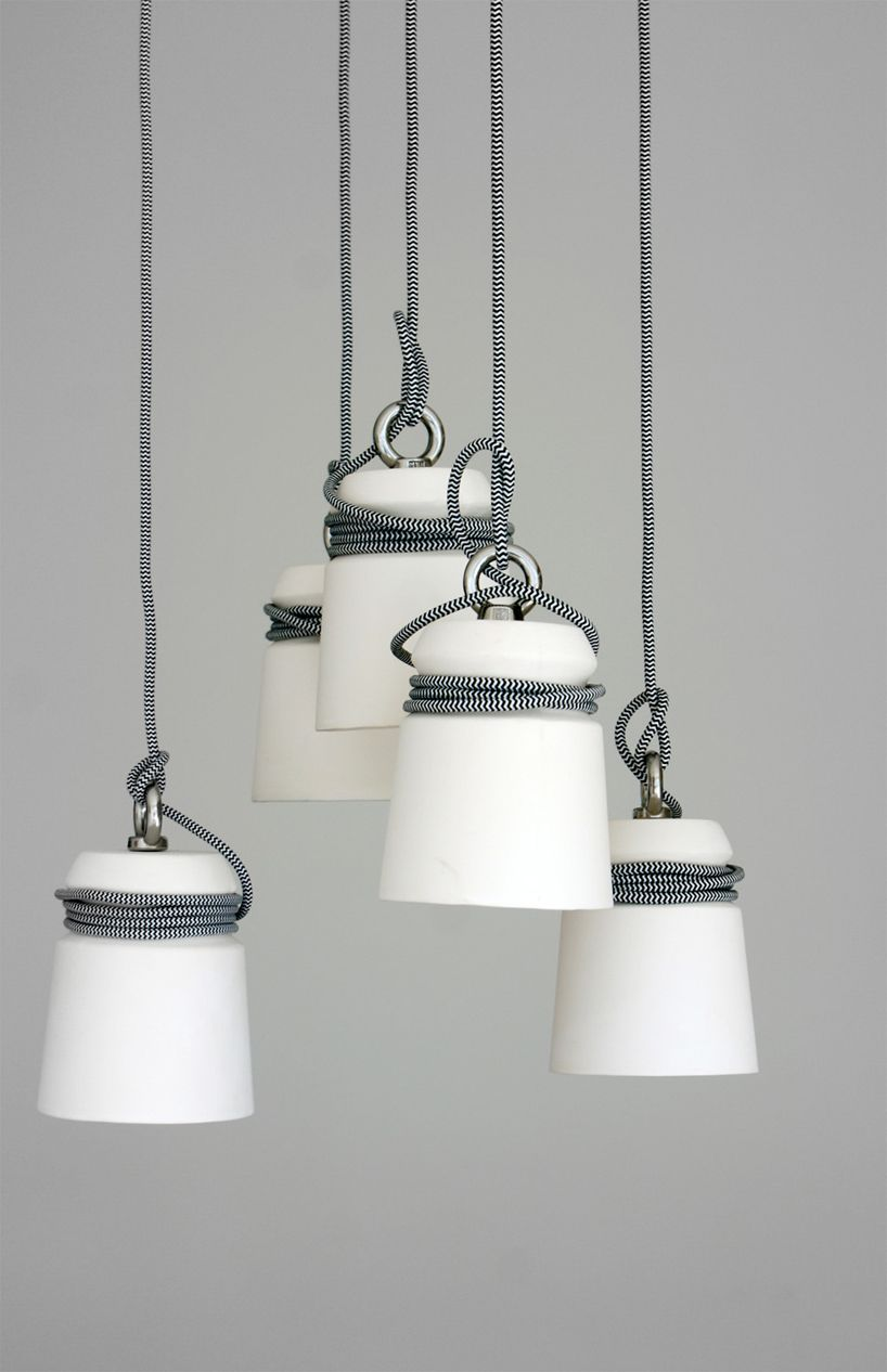 diy cable lighting. CABLE LIGHT / Ceramic Pendant Light By Patrick Hartog - Folklore Cable Lamps From Diy Lighting K