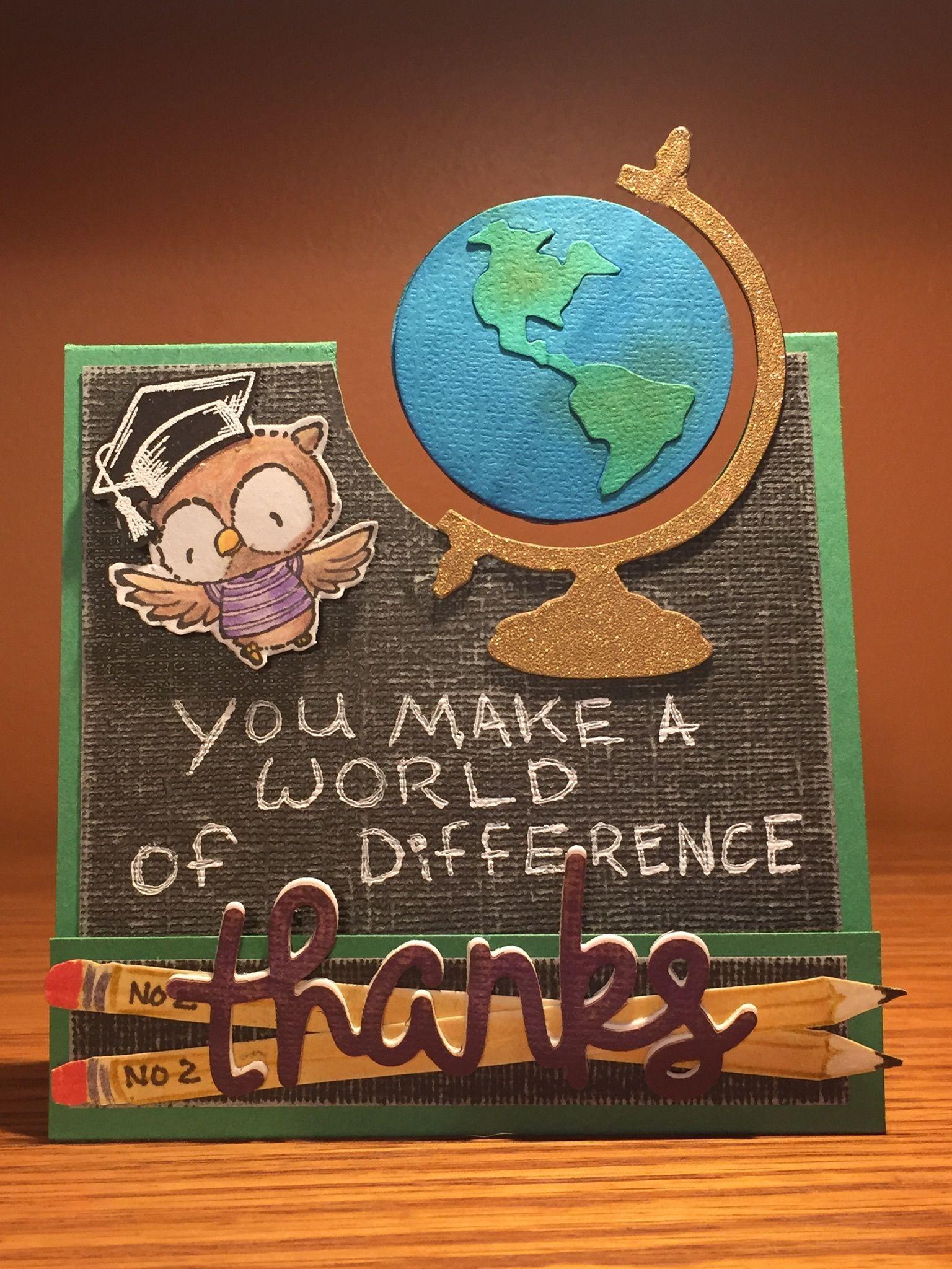 purple onion designs teacher thank you card handmade