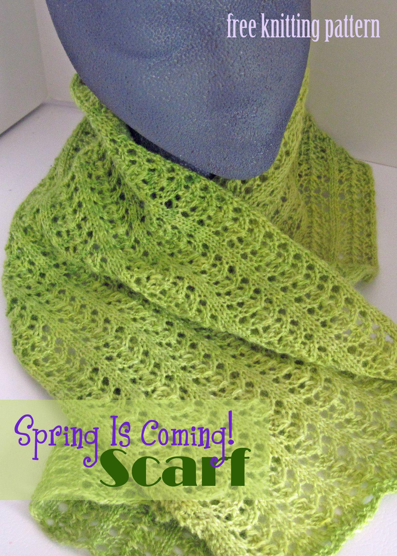 Free knitting pattern spring lace scarf craftown knit and free knitting pattern spring lace scarf craftown bankloansurffo Choice Image