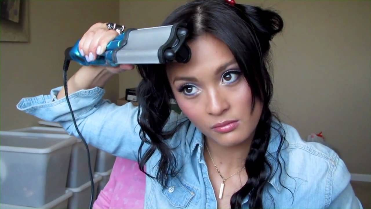 How I Wave My Hair Using Bed Head S Wave Artist Hair Waver Bed Head Wave Artist Hair Waver Iron