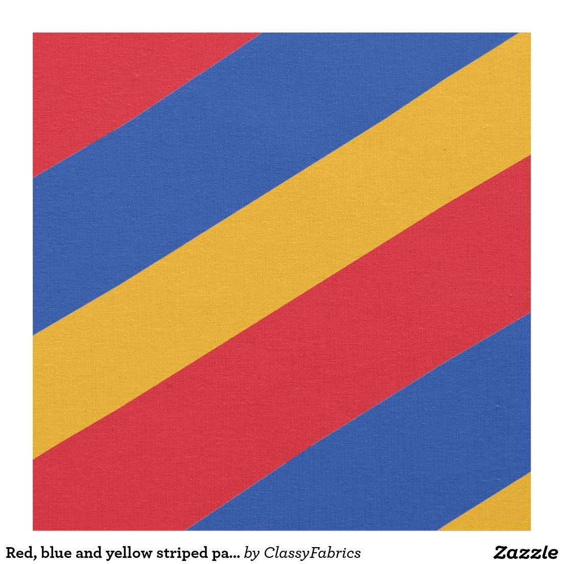 Red Blue And Yellow Striped Pattern Fabric Stripes Pattern Fabric Patterns Fabric