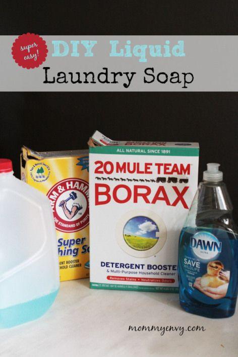 Diy Liquid Laundry Soap The Easy Way Liquid Laundry Soap