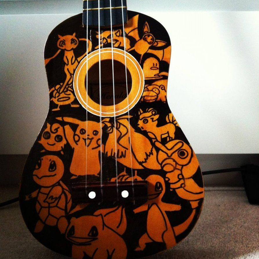 pokemon ukulele (front) by frogcalledfrowg on DeviantArt