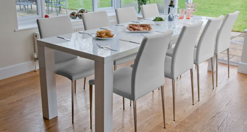 Bramante White Gloss Extending Dining Table  Made  Furniture Best White Gloss Dining Room Table Decorating Design