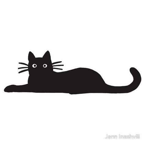 "feline face decals | Black Cat"" Stickers by Jenn Inashvili | Redbubble"