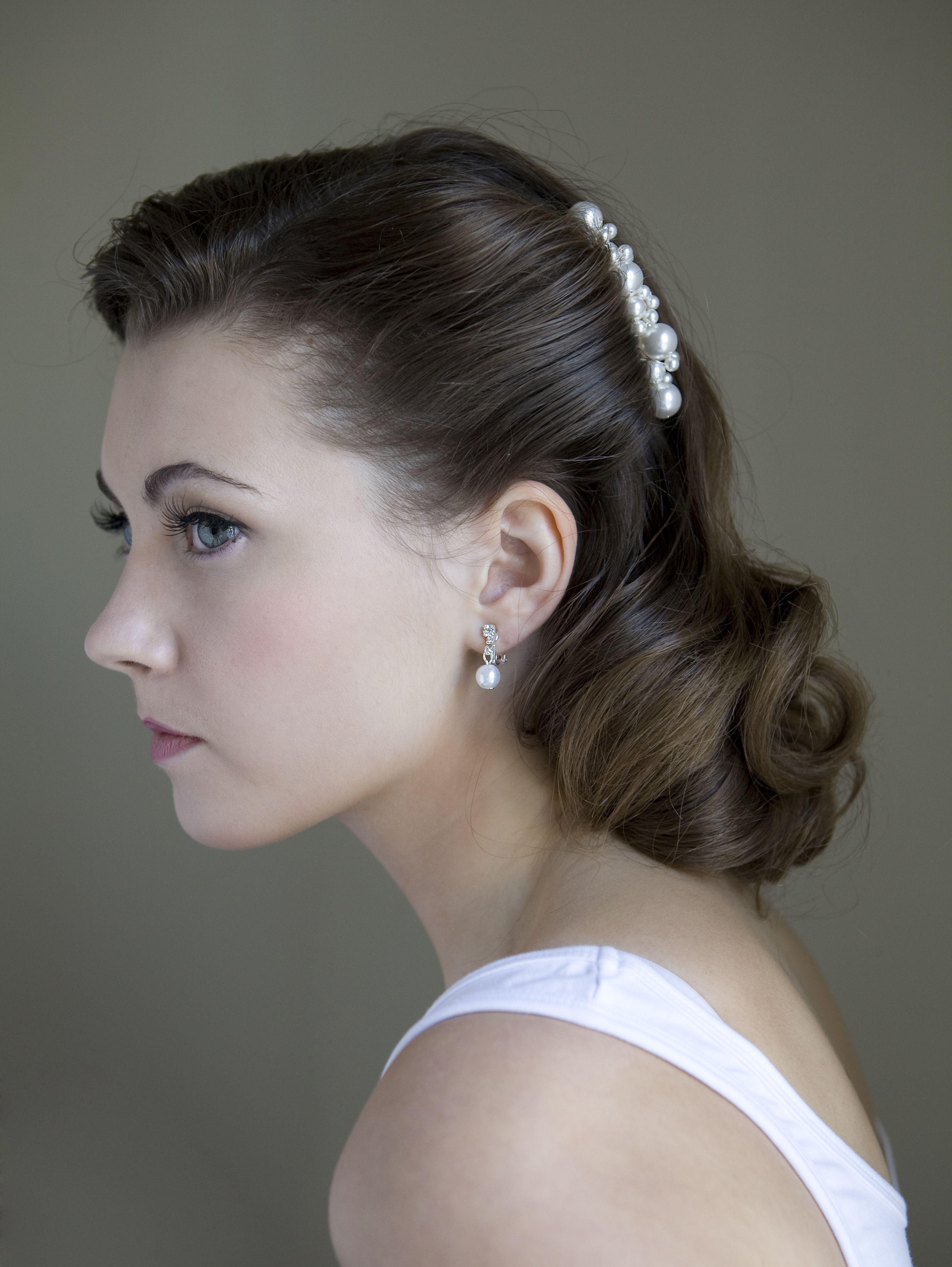1940s Bridal Hair and Makeup Hair, Makeup and Styling