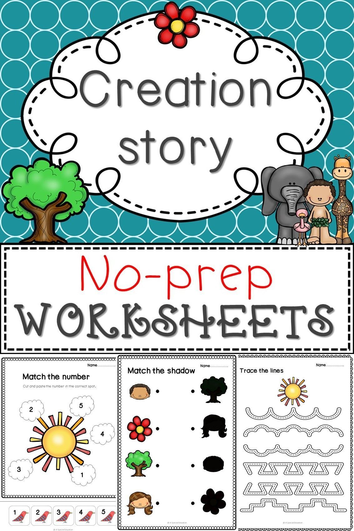 No Prep Worksheets For 7 Days Of Creation Lesson In