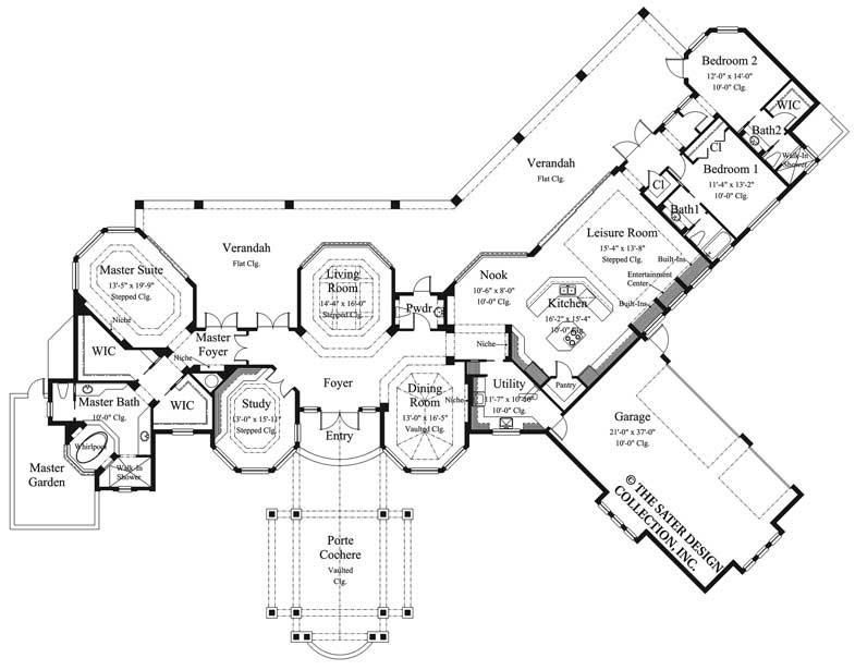 Echo Canyon House Plan Spanish Style Homes Floor Plans Mediterranean Style House Plans