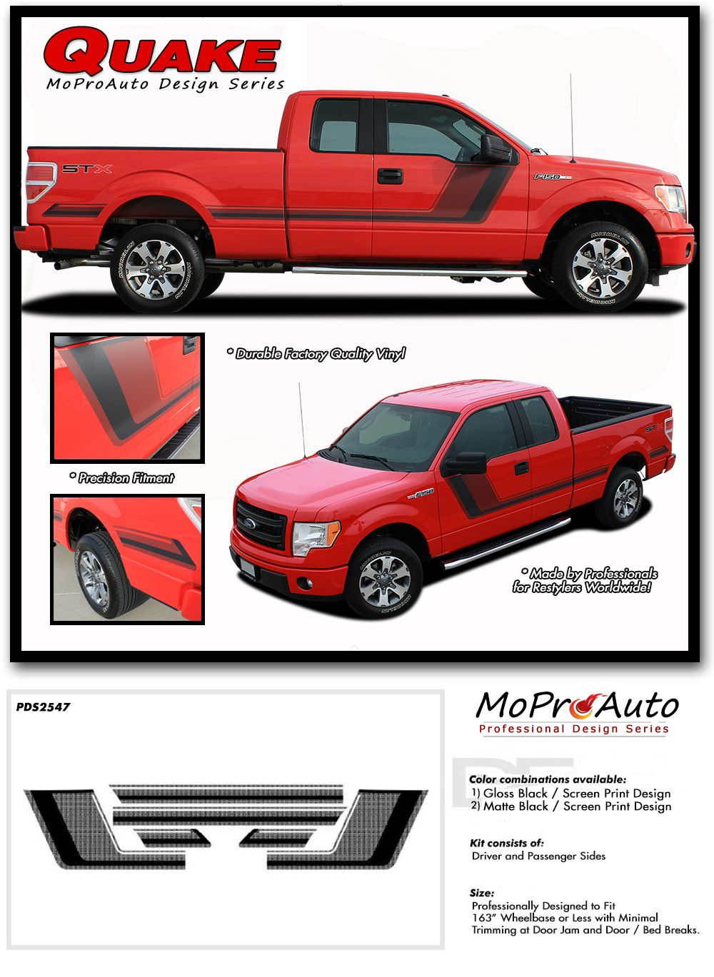 TREMOR FX APPEARANCE STYLE FORD FSERIES F MoProAuto Pro - Custom decal graphics on vehiclesgetlaunched custom designed vinyl graphics decals turn heads and