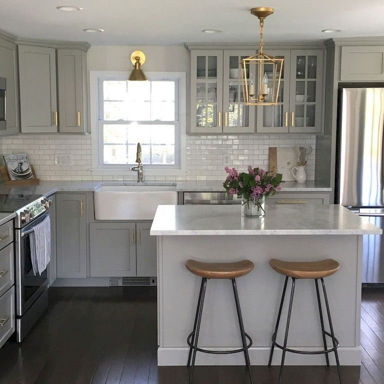 86+ Awesome Small Kitchen Remodel Ideas #smallkitchendesigns