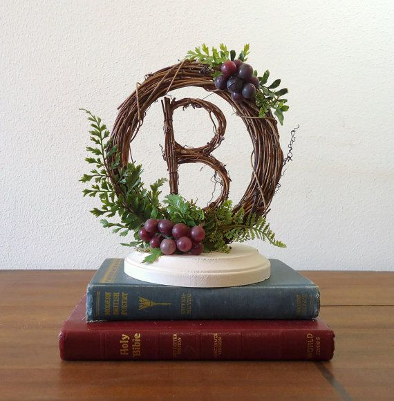 I Could Totally Make This: Vineyard Wedding Cake Topper With Grapevine By