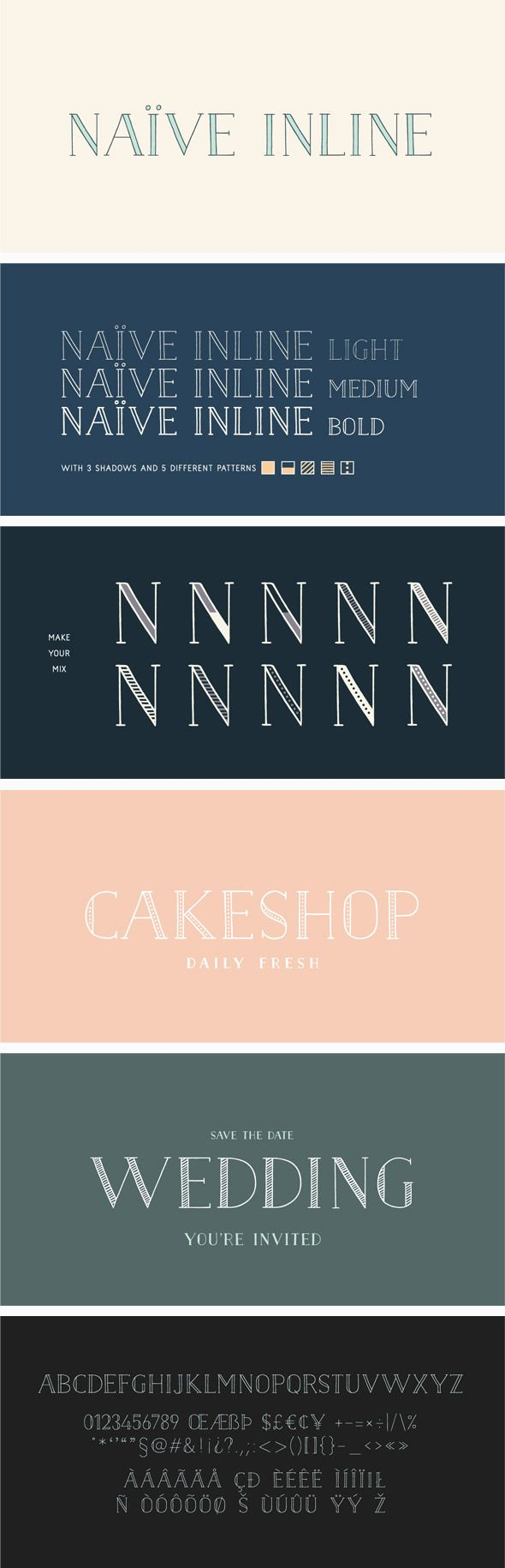 Download Naive Inline Font Pack | Font packs, Graphic design fonts ...