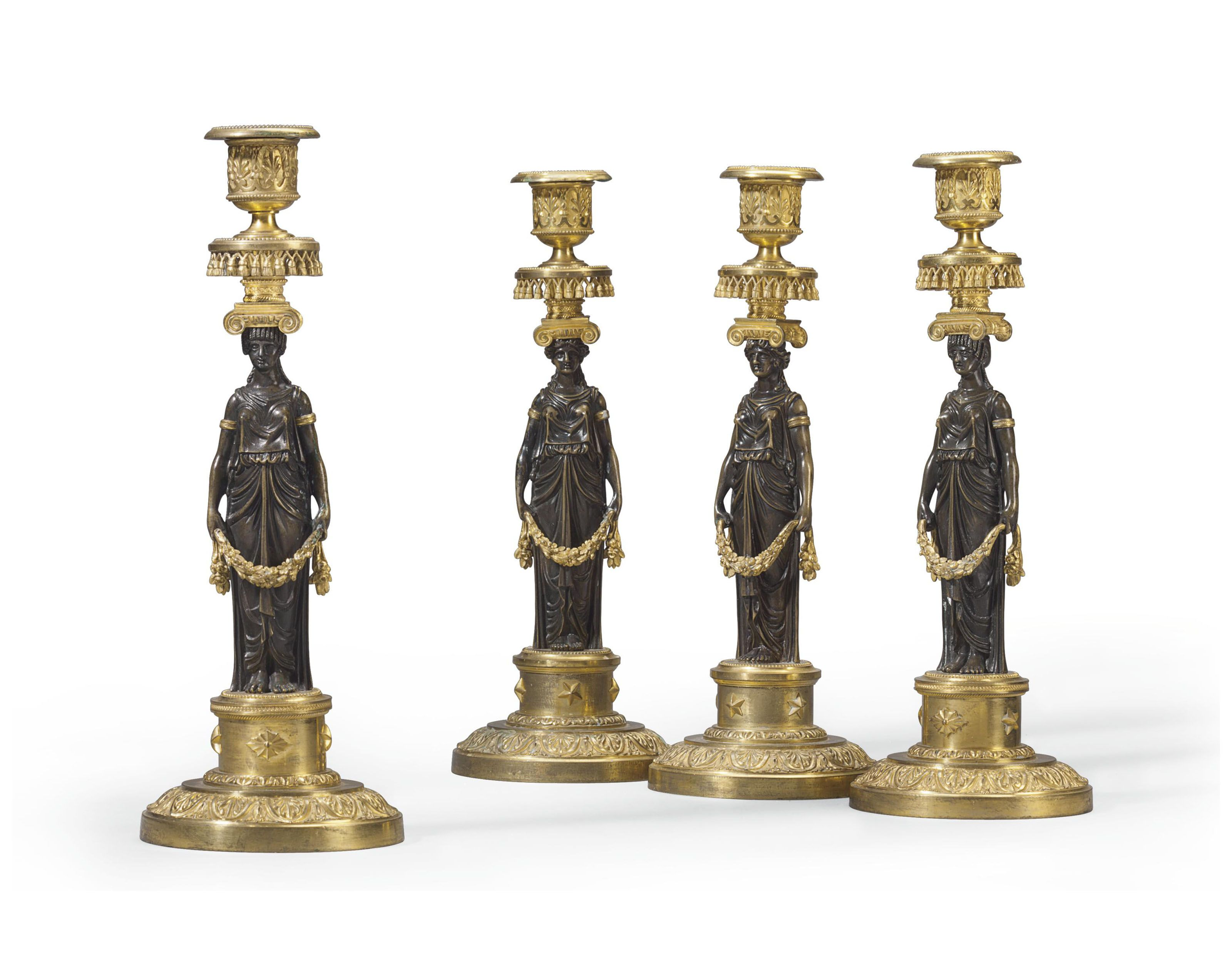 c1795 A MATCHED SET OF FOUR DIRECTOIRE ORMOLU AND ...