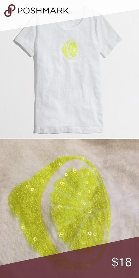 d220d3f49 NWOT jcrew sequin lemon t shirt Size Xs J. Crew Factory Tops | My ...