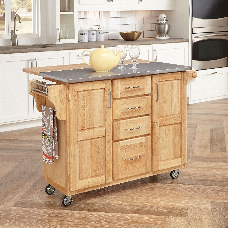 Genial Home Styles Natural Breakfast Bar Kitchen Cart