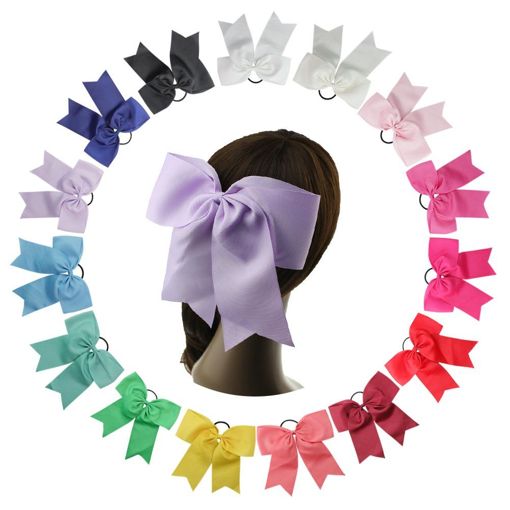 Pcs kids toddlers baby girl large grosgrain ribbon hair bows clips