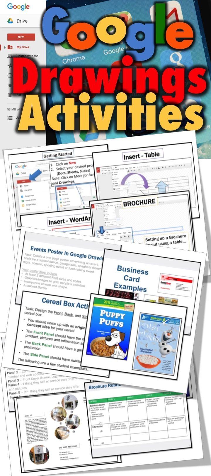 Google Drive Drawing Activities Brochure Events Poster