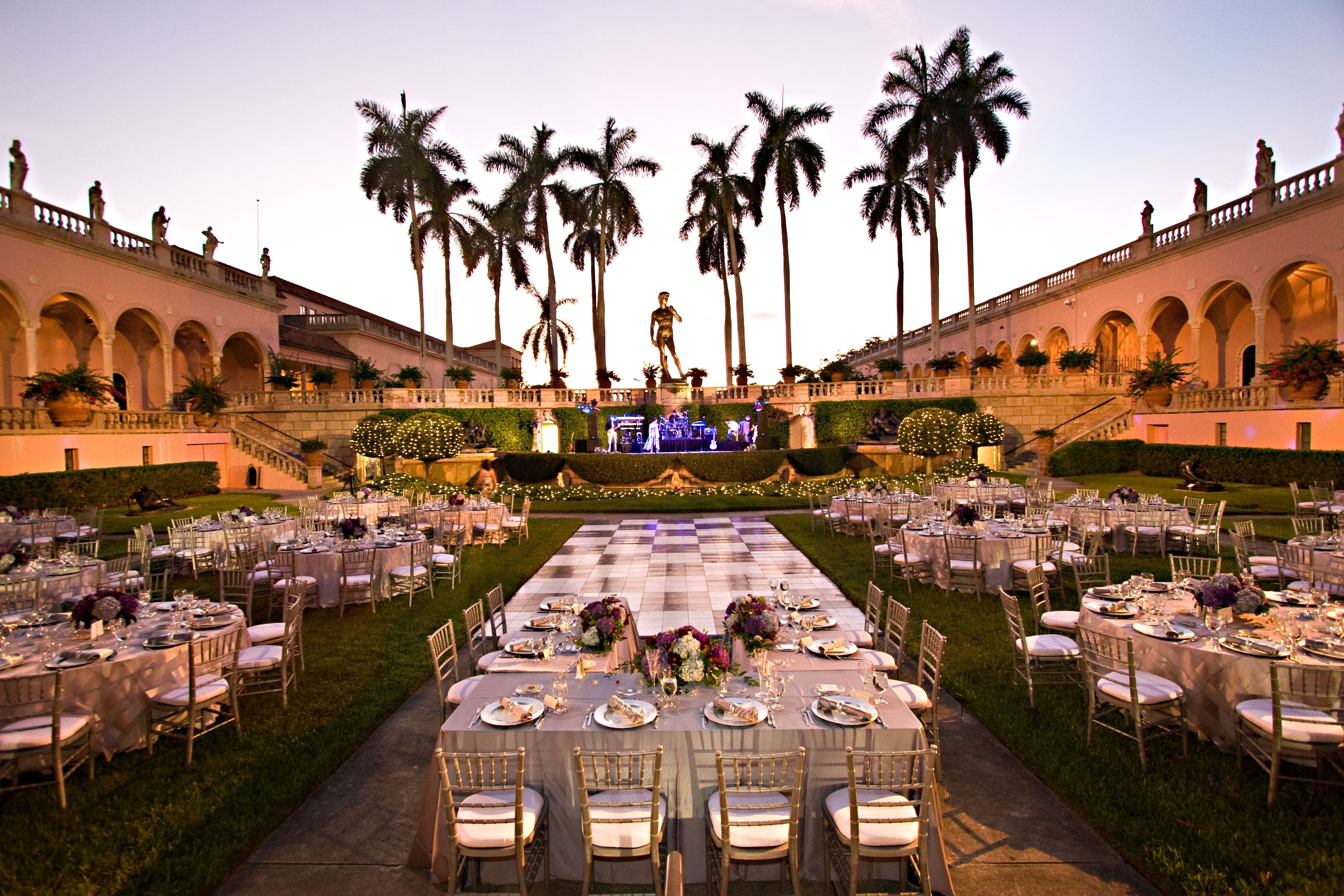 Courtyard Wedding At Ringling Museum Of Art Florida Venues Locations Events
