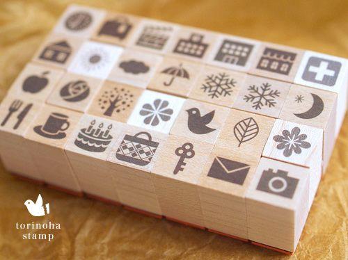 オリジナルスタンプ | 鳥の葉工房 *手帳スタンプ・ラッピング用品・クッキー型・ベレスタ