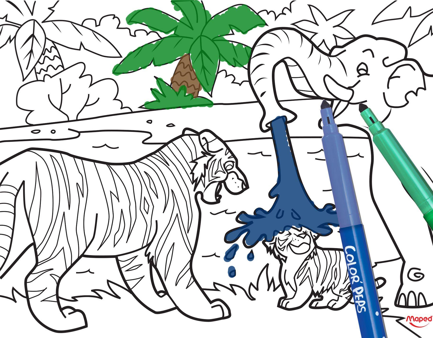 Tigre #Maped #MapedCreatives #coloriage #creativite #couleurs #fun ...