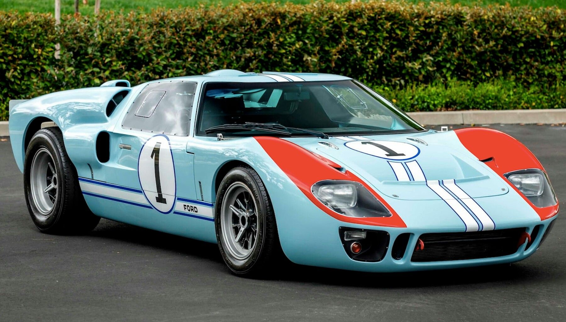 Replica Of Miles Ford Gt Mk Ii N 1 Which Ran At Lm 1966 Used In Fordvferrari 2019 Ford Gt40 Ken Miles Gt40