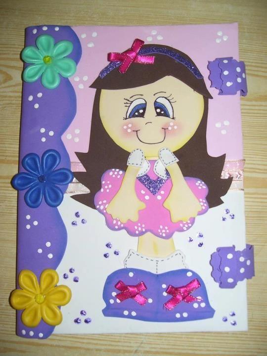 Como decorar cuadernos con fomix imagui manualidades - Como decorar cuadernos ...