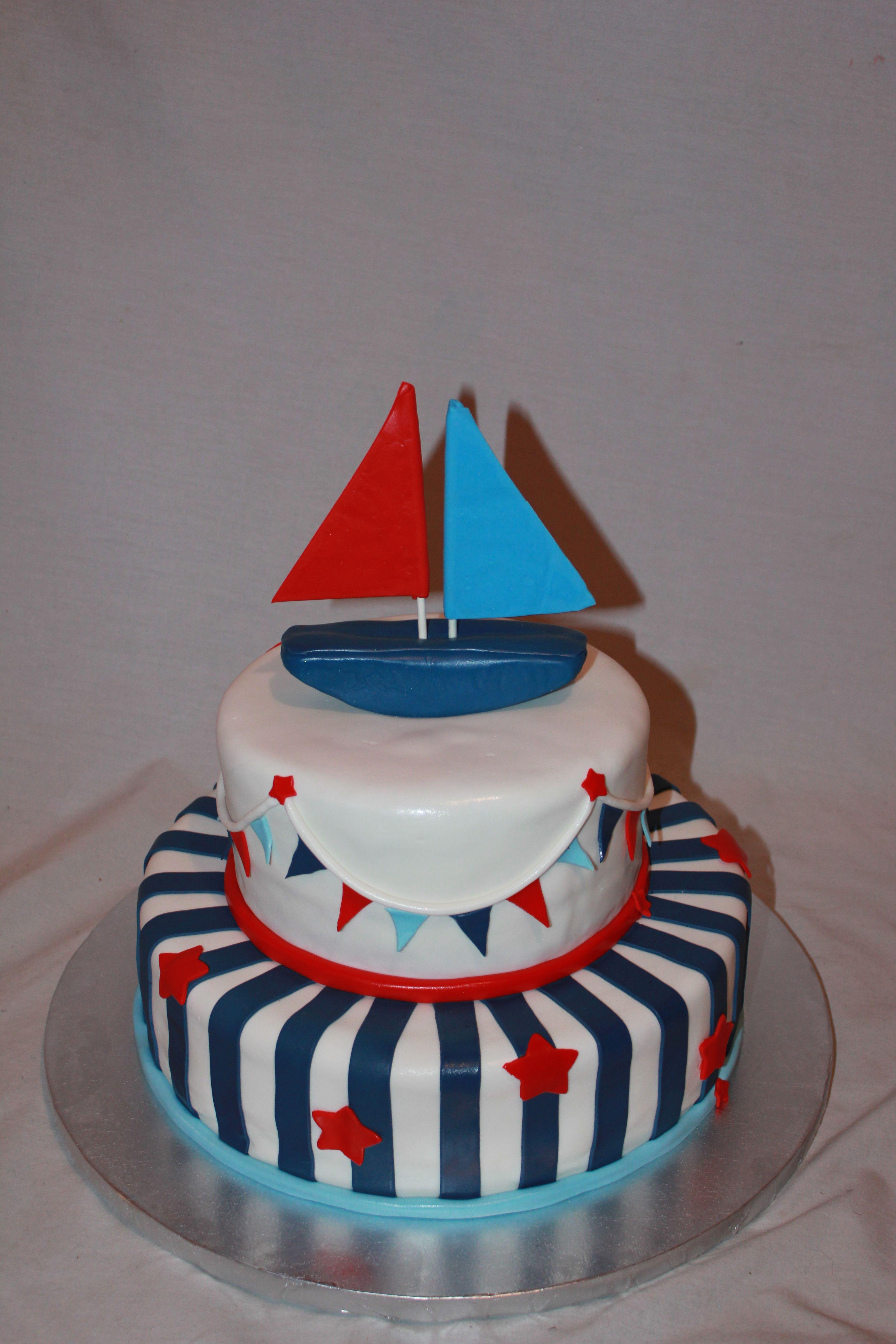 Nautical Baby Shower Cakes | CakeDreamz.com   Cakes   Nautical Baby Shower  Cake