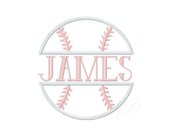 Baseball Split Applique Design Embroidery 4x4 5x7 6x10 Instant Download Sports Applique BX by HerringtonDesign on Etsy https://www.etsy.com/listing/219063382/baseball-split-applique-design