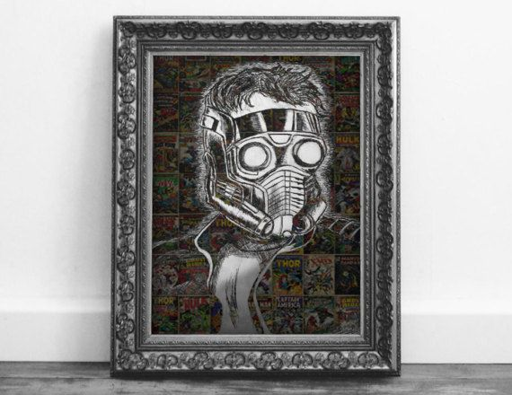 Check out this item in my Etsy shop https://www.etsy.com/ca/listing/510385047/guardians-of-the-galaxy-star-lord-comic