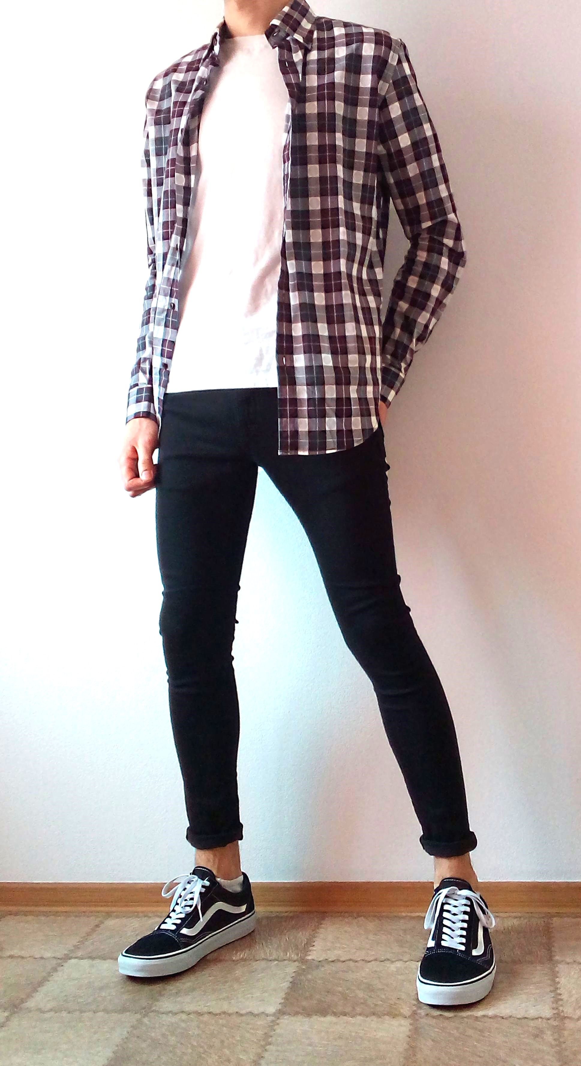 vans old skool black skinny jeans boys guys outfit | vans