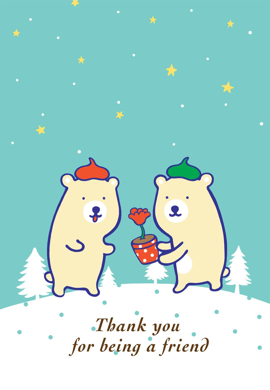 Free Printable Thank You For Being A Friend Greeting Card Christmas Cards Free Friend Christmas Free Online Christmas Cards