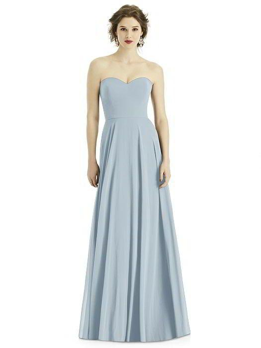 Eye-Catching Lady Strapless Chiffon Graduation Party Bridesmaid Long Dress 2018
