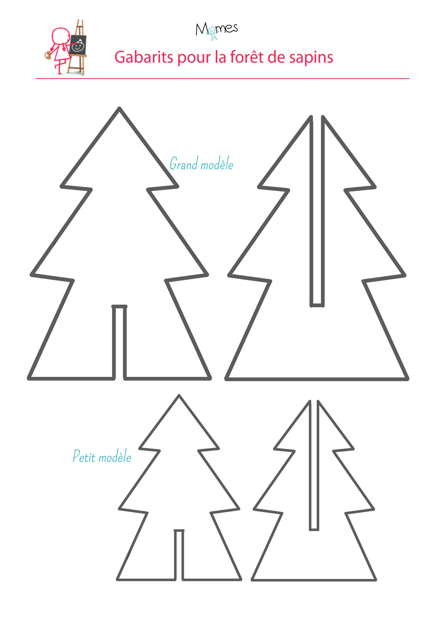 Une for t de sapins noel xmas and origami for Decorer sa table de noel