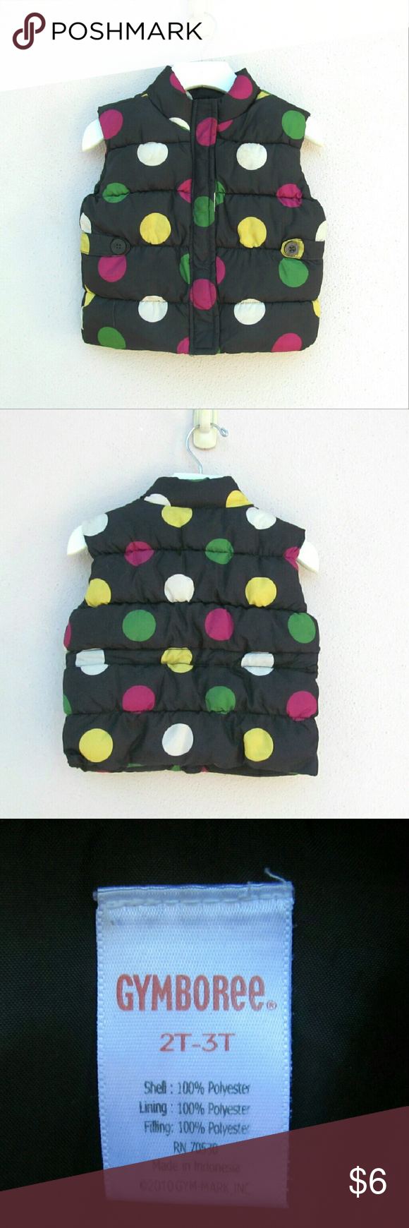 Cute Toddler Girls Puffer Vest Size 2T I offer bundle discounts!!! Jackets & Coats Puffers