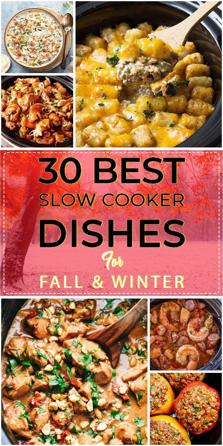 30 Best Slow Cooker Dishes For Fall And Winter Easy Family Recipes Slow Cooker Dishes Slow Cooked Meals Easy Meals