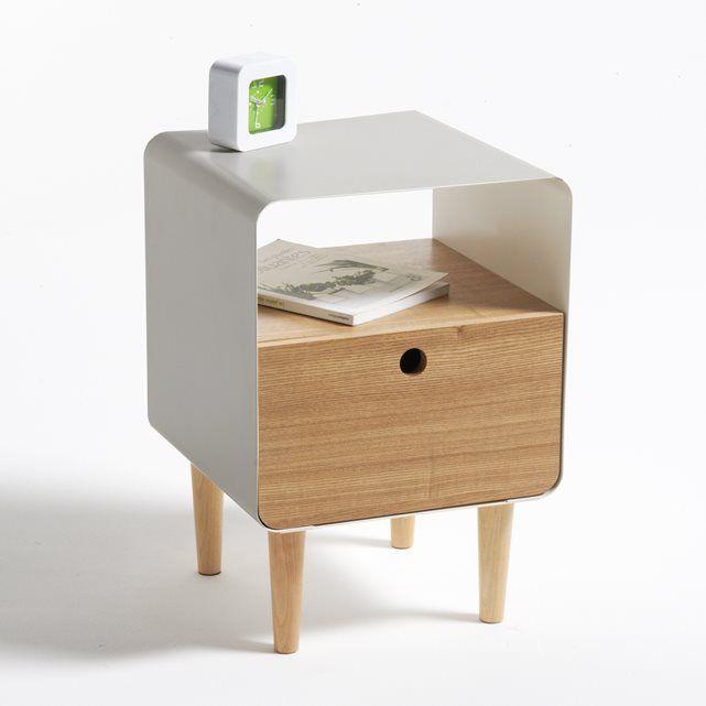 Nachttisch Quot Jimi Quot Holz Und Metall M 246 Bel Holz Und