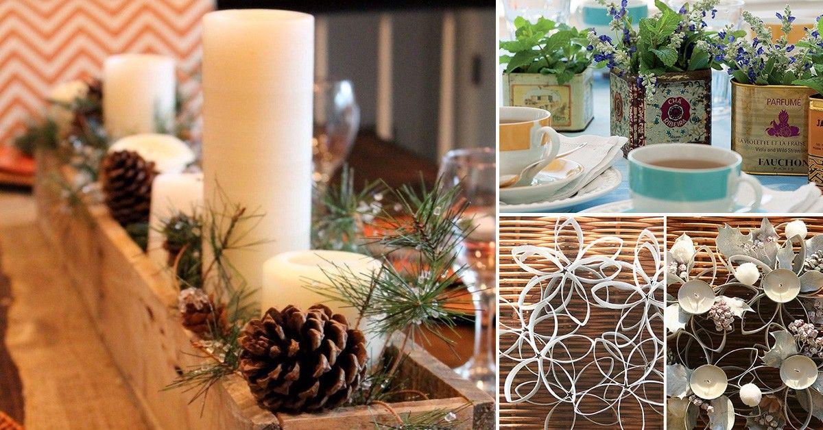 C mo realizar sencillos centros de mesa artesanales centro de mesa navide os navidad - Adornos navidenos sencillos ...