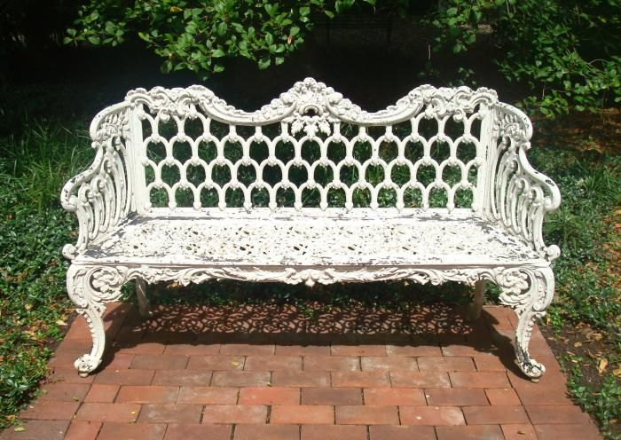 Marvelous BENCH, CAST IRON GOTHIC PATTERN, 19TH C.