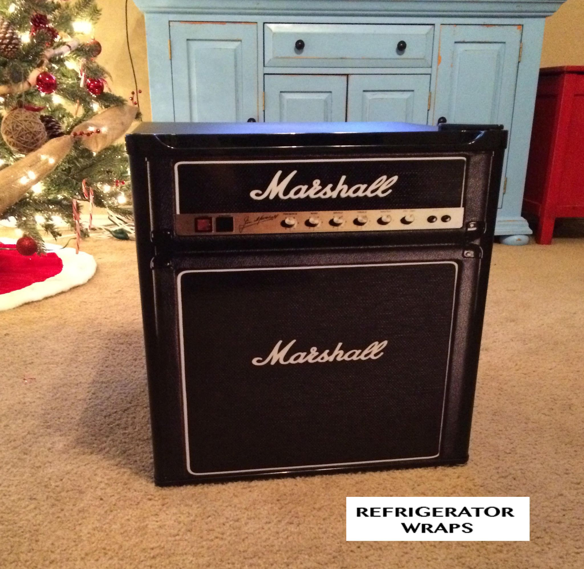 Home for the home marshall fridge - Marshall Amp Mini Fridge Front Wrap Sticker Add Your Own Name On The Front Amp