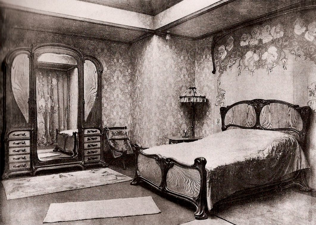 eug ne gaillard bedroom 1900 art nouveau art nouveau bedroom art nouveau interior art. Black Bedroom Furniture Sets. Home Design Ideas