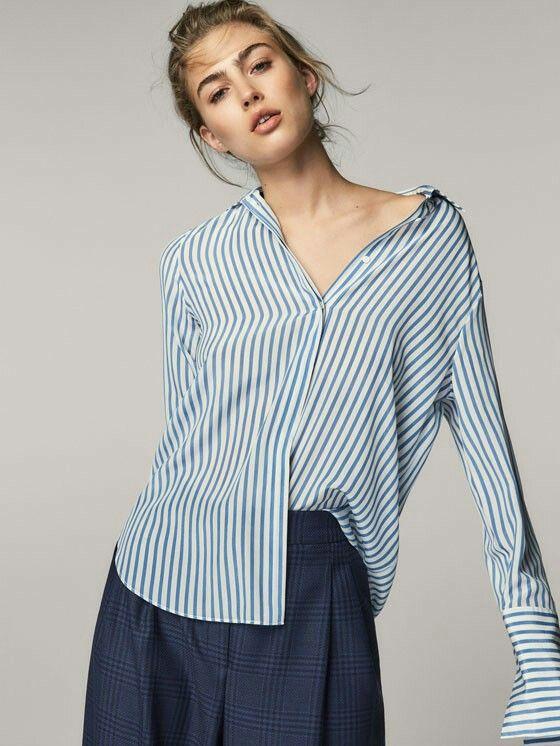 ba2caec46a478 Massimo dutti striped silk shirt