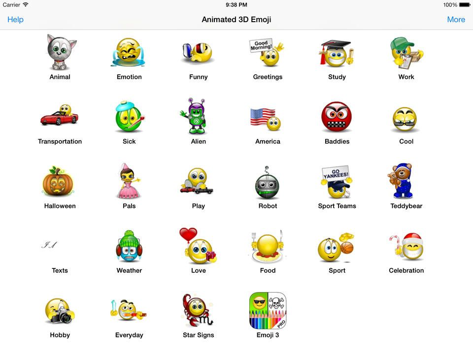 Emoji faces animated 3d emoji emoticons sms smiley faces stickers hd