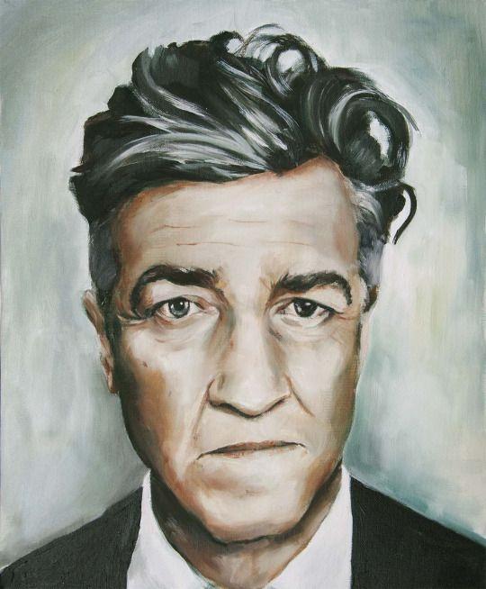 David Lynch oil painting portrait.